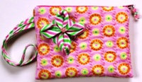 191 Wristlet, Peppermint Origami