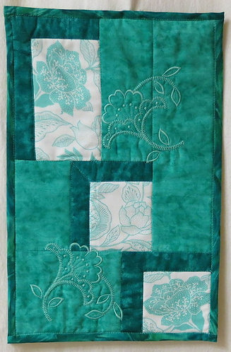 403 Turquoise Floral Wall Hanging