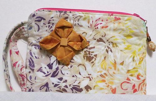 257 Wristlet, Multi Batik Origami