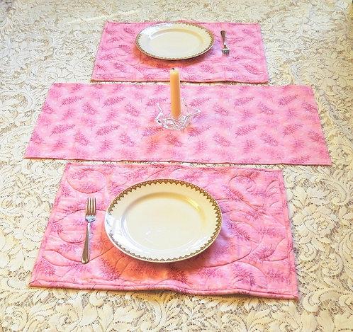 184 Table Linen Set, Mauve