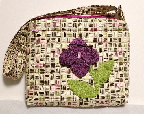 167 Purse, Boxy, Purple, Origami