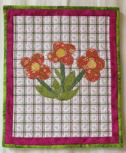 408 3 Flower Wall Hanging