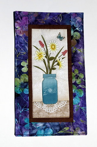 551 Wallhanging Flowers in Jar