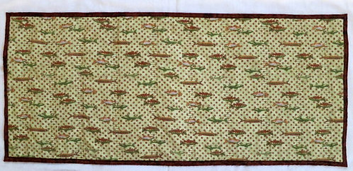 212 Table Runner, Flannel Fish