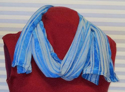 301 Scarf Oblong, Stripes, Blue/Gray
