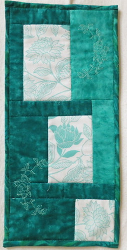 404 Turquoise Floral Wall Hanging