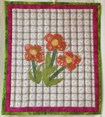 409 3 Flower Wall Hanging