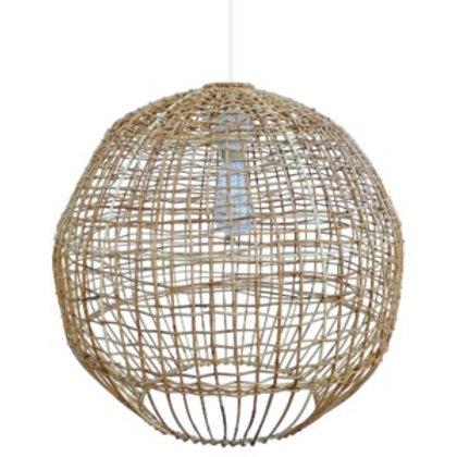 Rattan-Sphere Hanging Pendant
