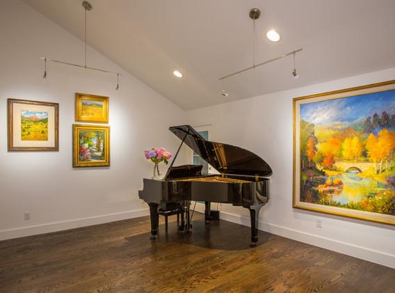 Piano in Living Area