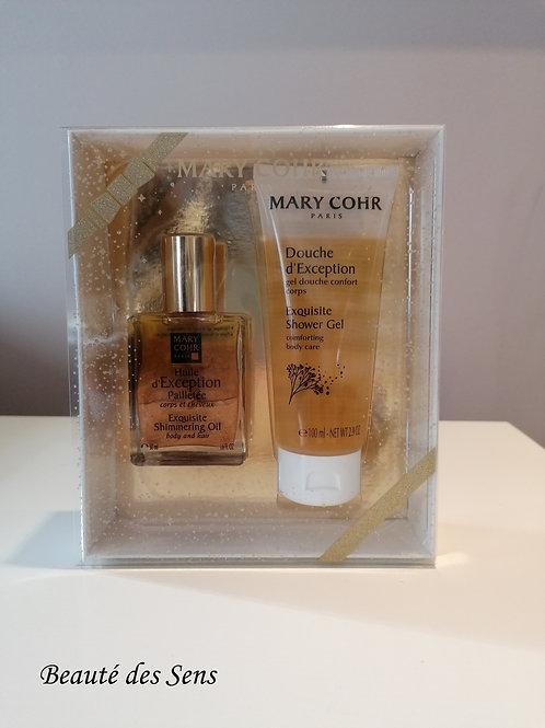 coffret huile d'exception + gel douche Mary Cohr