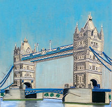 modern art, Tower Bridge, London tower bridge, wire art, wire painting, wirepictures.co.uk