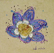 crocus, modern art, wire art, wire painting, wirepictures.co.uk