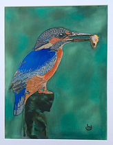 modern art, Kingfisher, wire art, wire painting, wirepictures.co.uk