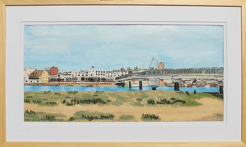 modern art, Shoreham Footbridge, wire art, wire painting, shoreham, wirepictures.co.uk