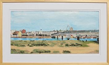 modern art, Shoreham Footbridge, wire art, wire painting, shoreham, wirepictures.co.uk