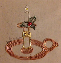 christmasart, modern art, wire art, wire painting, wirepictures.co.uk