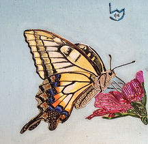 modern art, The swallowtail butterfly, butterfly, wire art, wire painting, wirepictures.co.uk