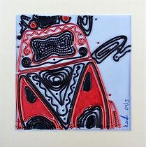 fire sheildbug, shieldbug art, modern art, wire art, wire painting, wirepictures.co.uk