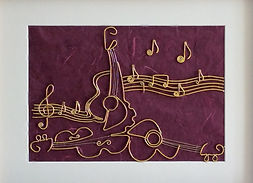 musical, modern art, wire art, wire painting, wirepictures.co.uk
