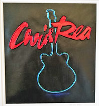 chris rea logo, modern art, wire art, wire painting, wirepictures.co.uk