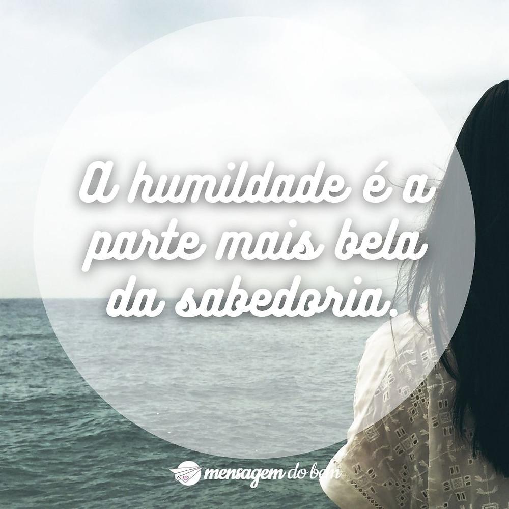 A humildade é a parte mais bela da sabedoria.