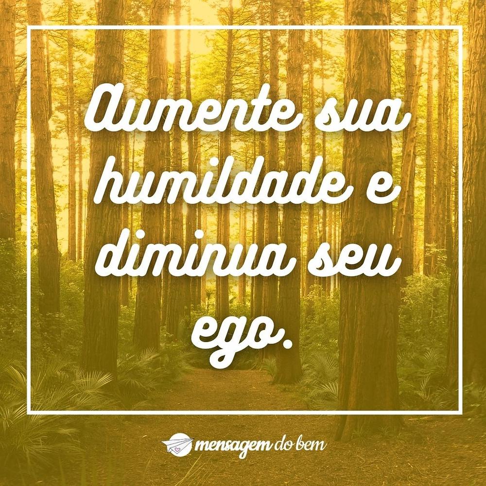 Aumente sua humildade e diminua seu ego.