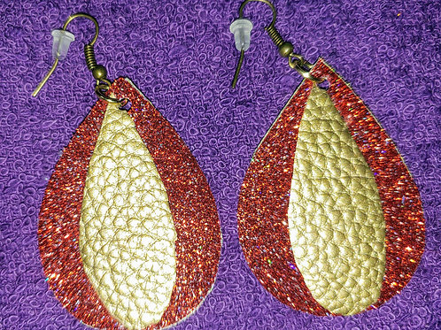 Faux Leather Earrings & Such