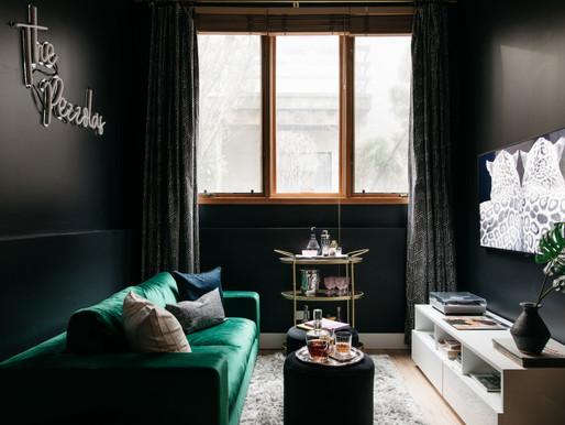 California Modern-Meets-Moody Glam Lounge Reveal