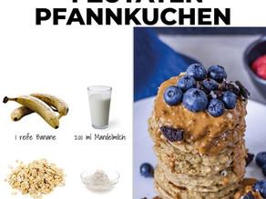 Einfache Bananen Haferflocken Pancakes 🍌