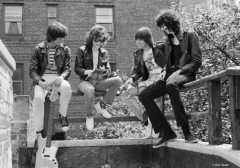 The Ramones by Bob Gruen. Forest Hills, NY, 1975