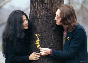 Yoko Ono and John Lennon. NYC, 1973