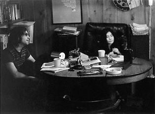 John Lennon & Yoko Ono- cropped version Bank St. Apartment, NYC 1973