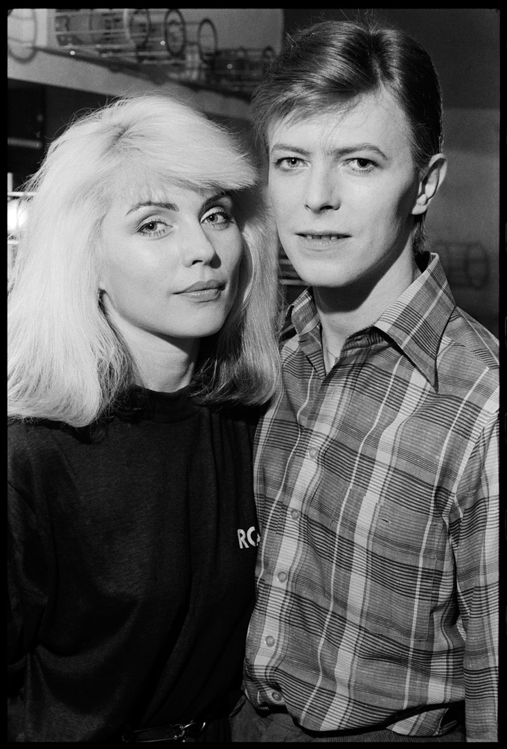 Debbie Harry and David Bowie