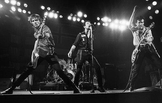 The Clash by Bob Gruen. Live in Boston, MA 1979
