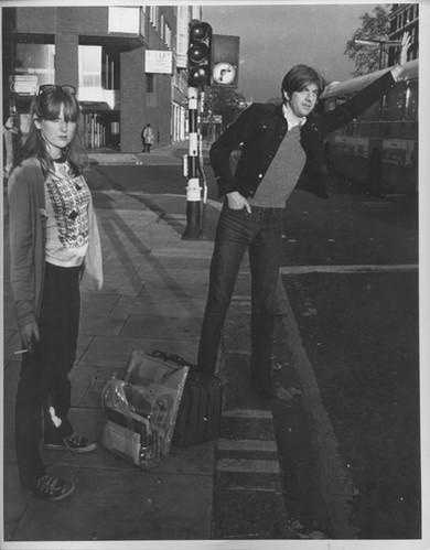 Fay Hart and Nick Lowe. 1977