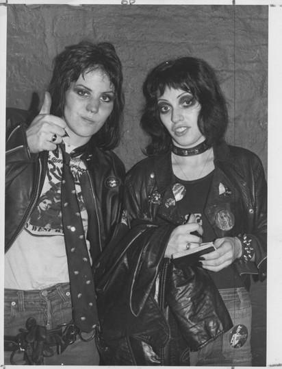 Joan Jett & Gaue Advert. London, 1977