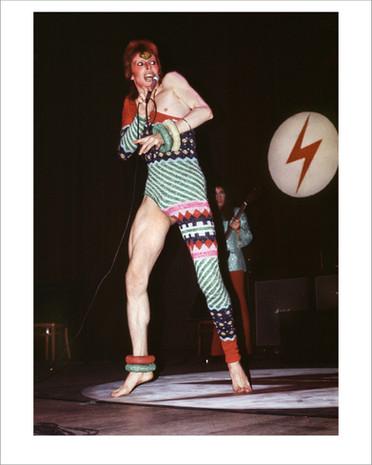 Bowie In Kansai Jumpsuit. UK, 1973