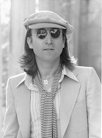 John Lennon - Portrait with Striped Scarf Untermyer Park, Yonkers, NY 1975