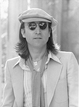 John Lennon - Portrait with Striped Scarf Untermyer Park, Yonkers, NY 1975
