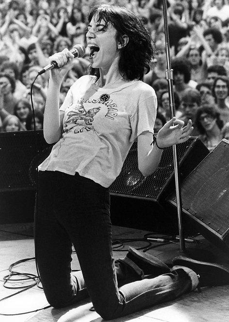 Patti Smith by Bob Gruen. NYC, 1976