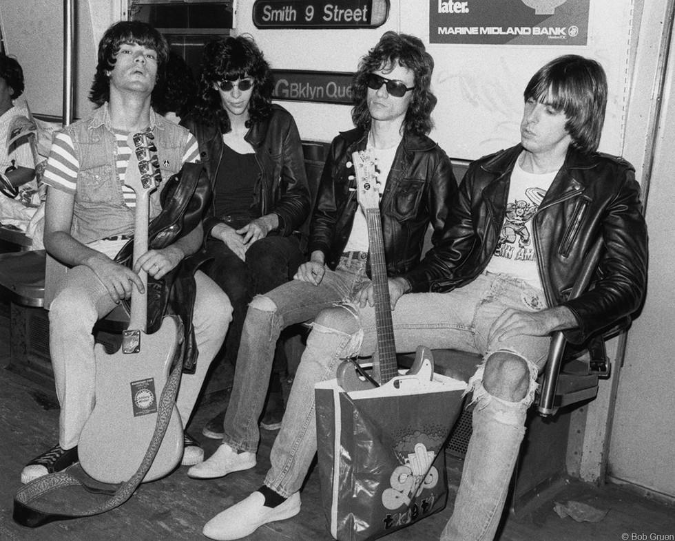 Ramones - On Subway in NYC, 1975