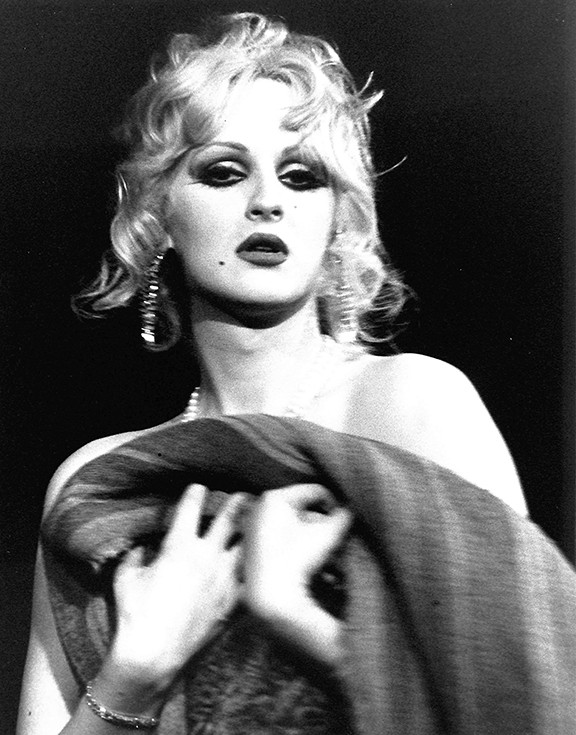 """Candy Darling in """"Vain Victory"""", NYC 1971"""