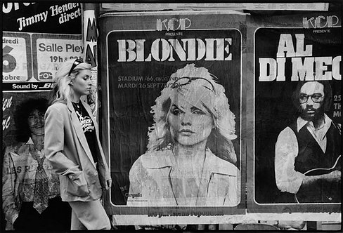 Debbie Harry with posters. NYC, 1978