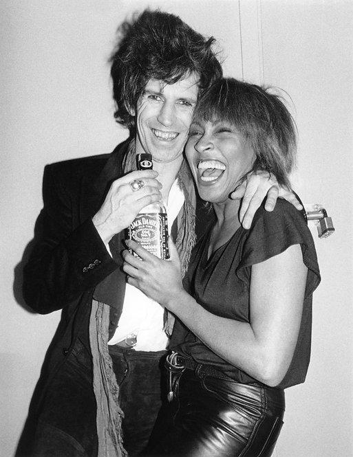 Keith Richards & Tina Turner by Bob Gruen. NYC, 1983