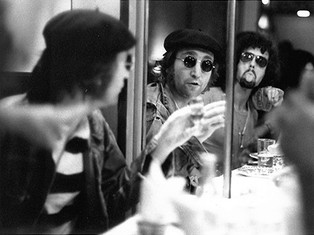 John Lennon with Rick Frank Chinatown, NYC 1972