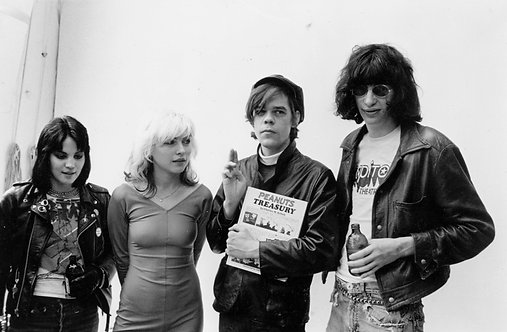 Joan Jett, Debbie Harry, David Johansen and Joey Ramone. NYC, 1977