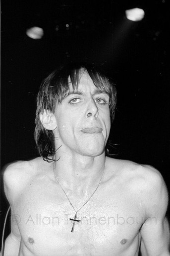 Iggy Pop performs at The Palladium, 1977