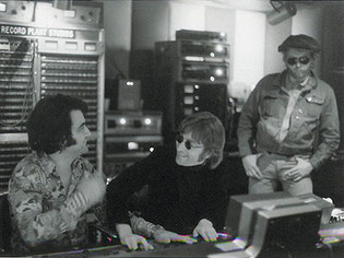 Roy Cicala, John Lennon & Harry Nilsson Record Plant, NYC 1974