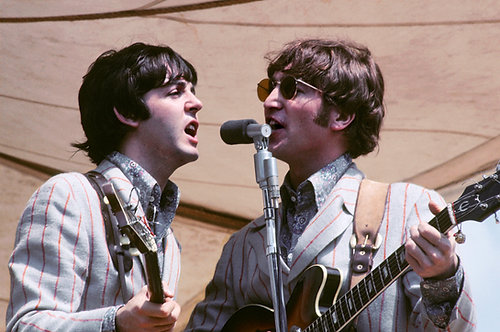 John Lennon and Paul Mc Cartney.  Cincinnati - Ohio, 1966