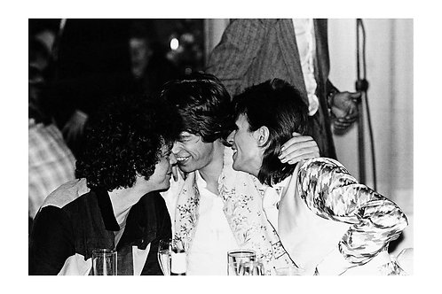 Lou Reed, Mick Jagger, David Bowie, Cafe Royale, London 1973